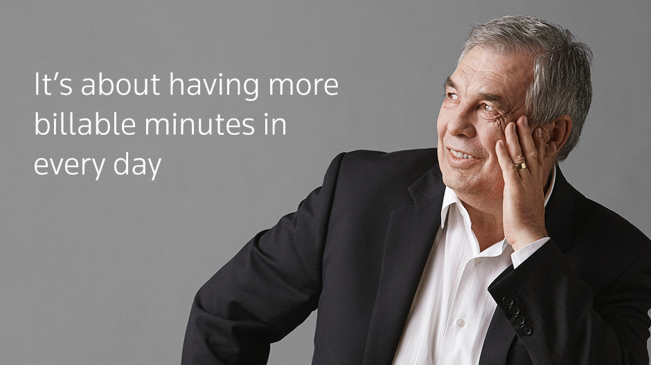 It's about having more billable minutes in every day